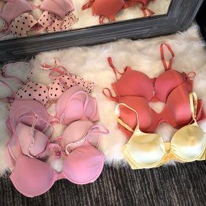Victoria's Secret PINK Bras LOT of 7 36C